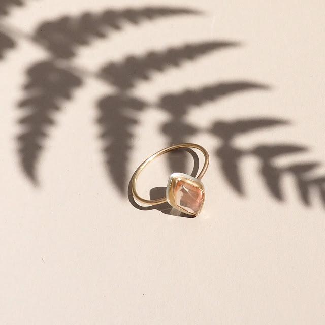 Sunstone ring by Seattle jewelry designer Britta Ambauen