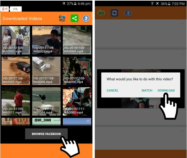 download facebook video android