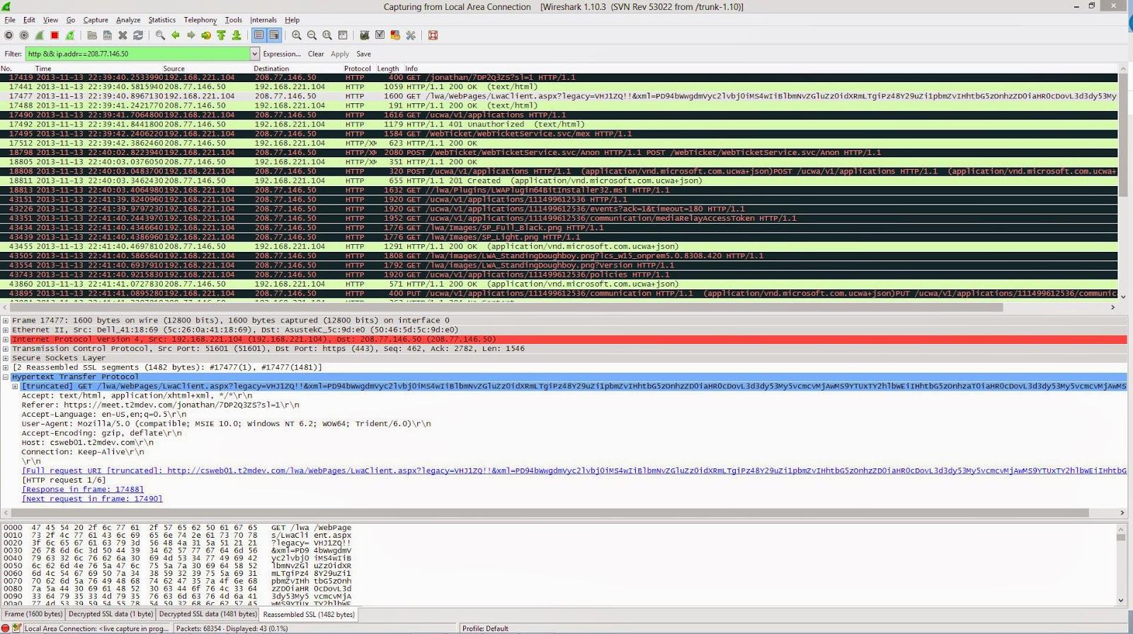 ucomsGeek: Using Wireshark to Decrypt Lync Communications