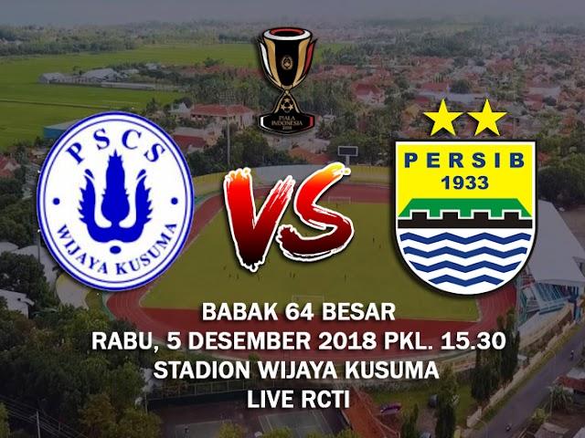 Babak 64 Piala Indonesia, Persib Hadapi PSCS Cilacap