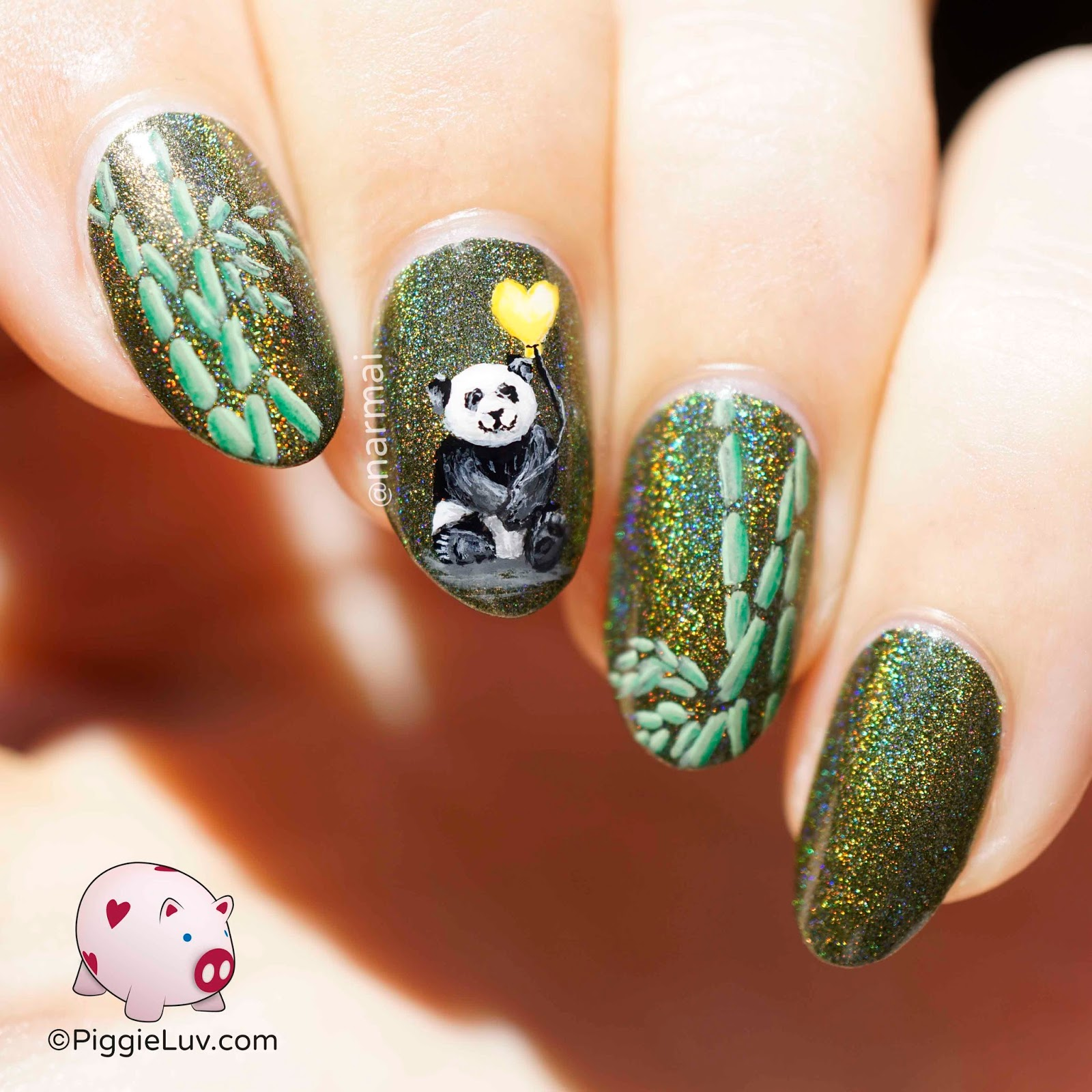 Piggieluv little panda nail art little panda nail art prinsesfo Choice Image