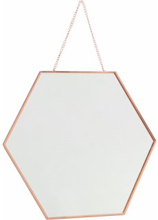 Hexagonal Hanging Mirror