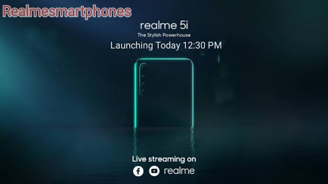 Realme 5i launched in India today at 12:30 pm: Expected Price and Specifications in India,Watch Live Stream.