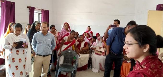 कालाजार से प्रभावित दो ब्लाकों का स्वास्थ्य टीम ने किया मुआयना