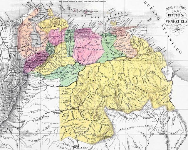 Mapa Político de Venezuela 1840