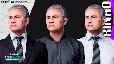PES 2021 Faces Jose Mourinho by Yeshua