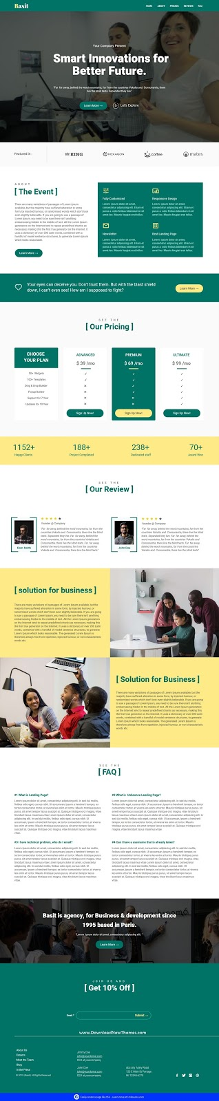 Unbounce Multipurpose Landing Page Template