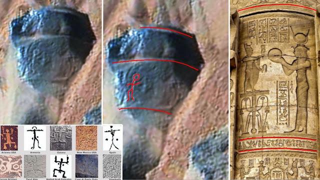 На Марсе найден камень с надписями напоминающими египетские иероглифы