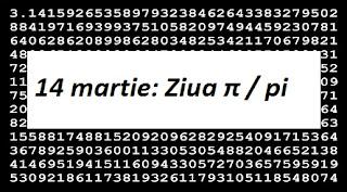 14 martie: Ziua π / pi