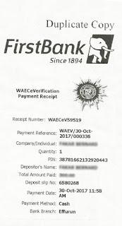 nysc waec verfication pin