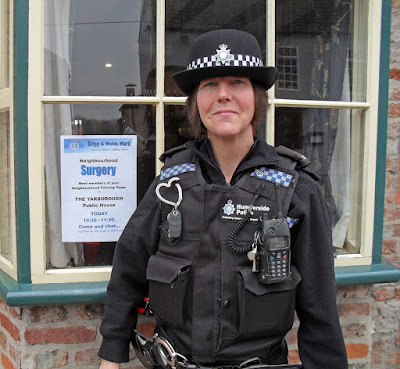 Brigg police officer PC Jane Proud of the Humberside force