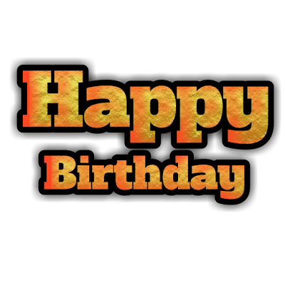 Happy birthday 3d text transparent image
