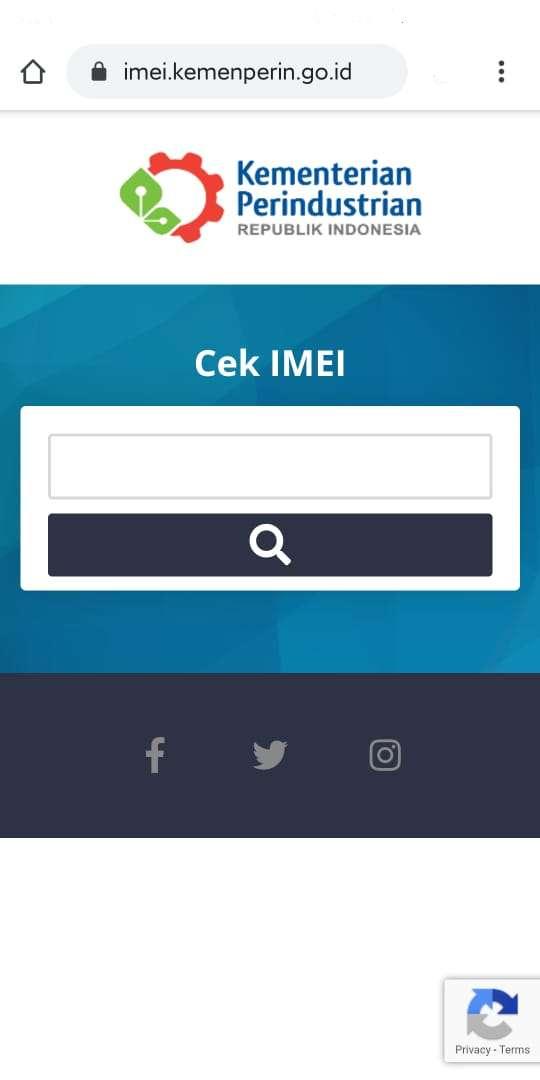 Cara Cek IMEI di Situs Kemenperin (teknolagi.net)