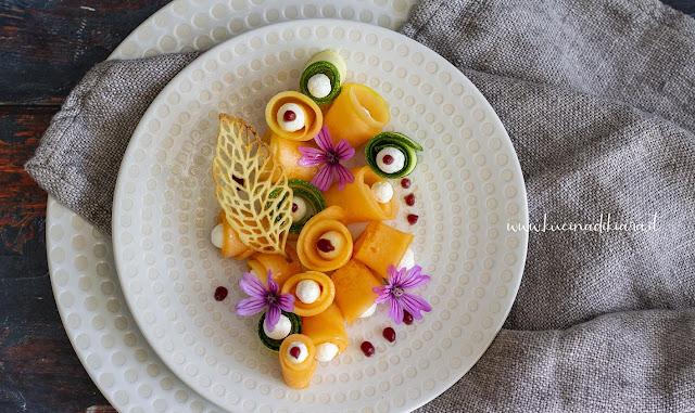 Melone e zucchine con Labneh