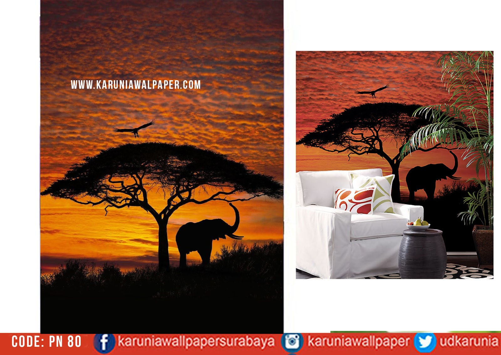 jual wallpaper dinding lion king