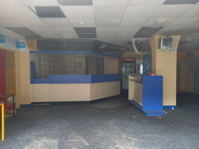 Blockbuster Video Express in Colne. August 2020