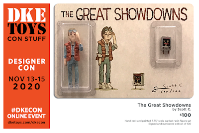 Designer Con 2020 Exclusive The Great Showdowns Back to the Future Resin Figure Set by Scott C. x DKE Toys