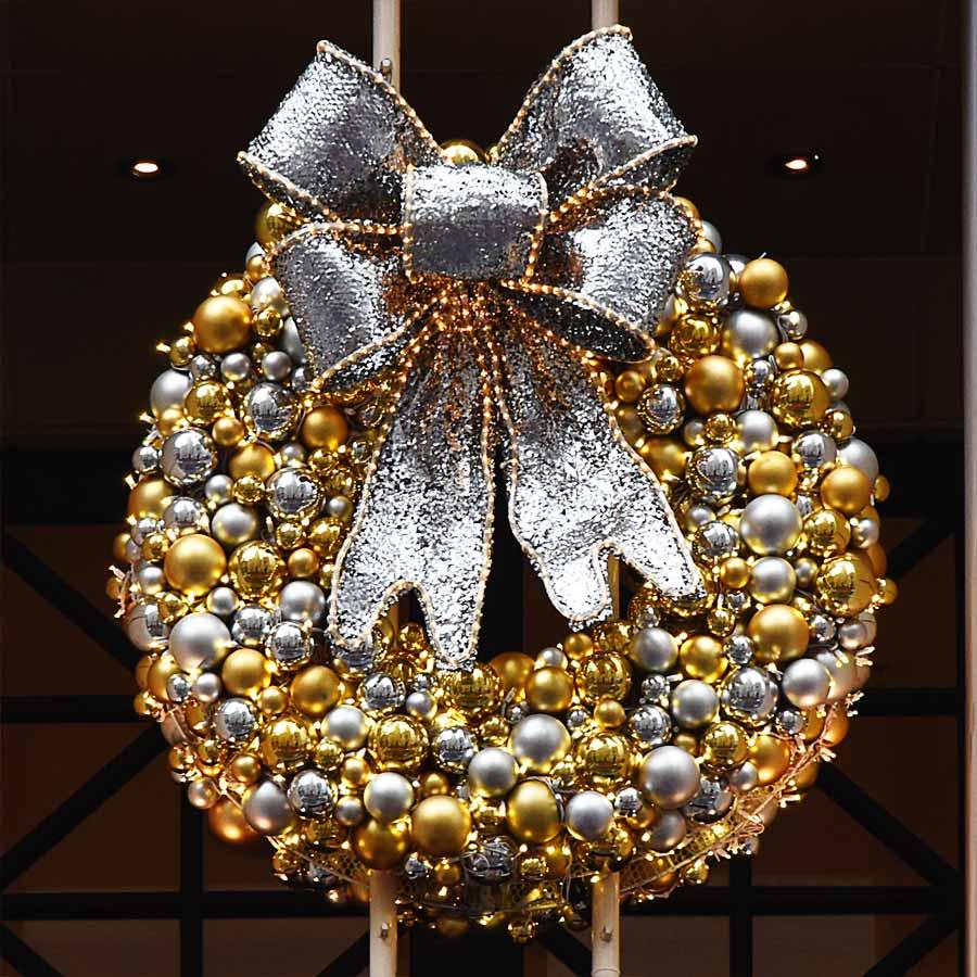 NY City NYC Holiday Wreath