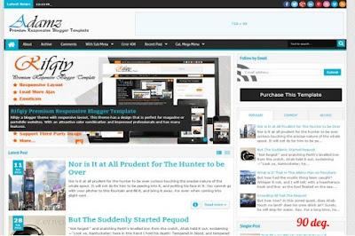 Adamz Blogger Template
