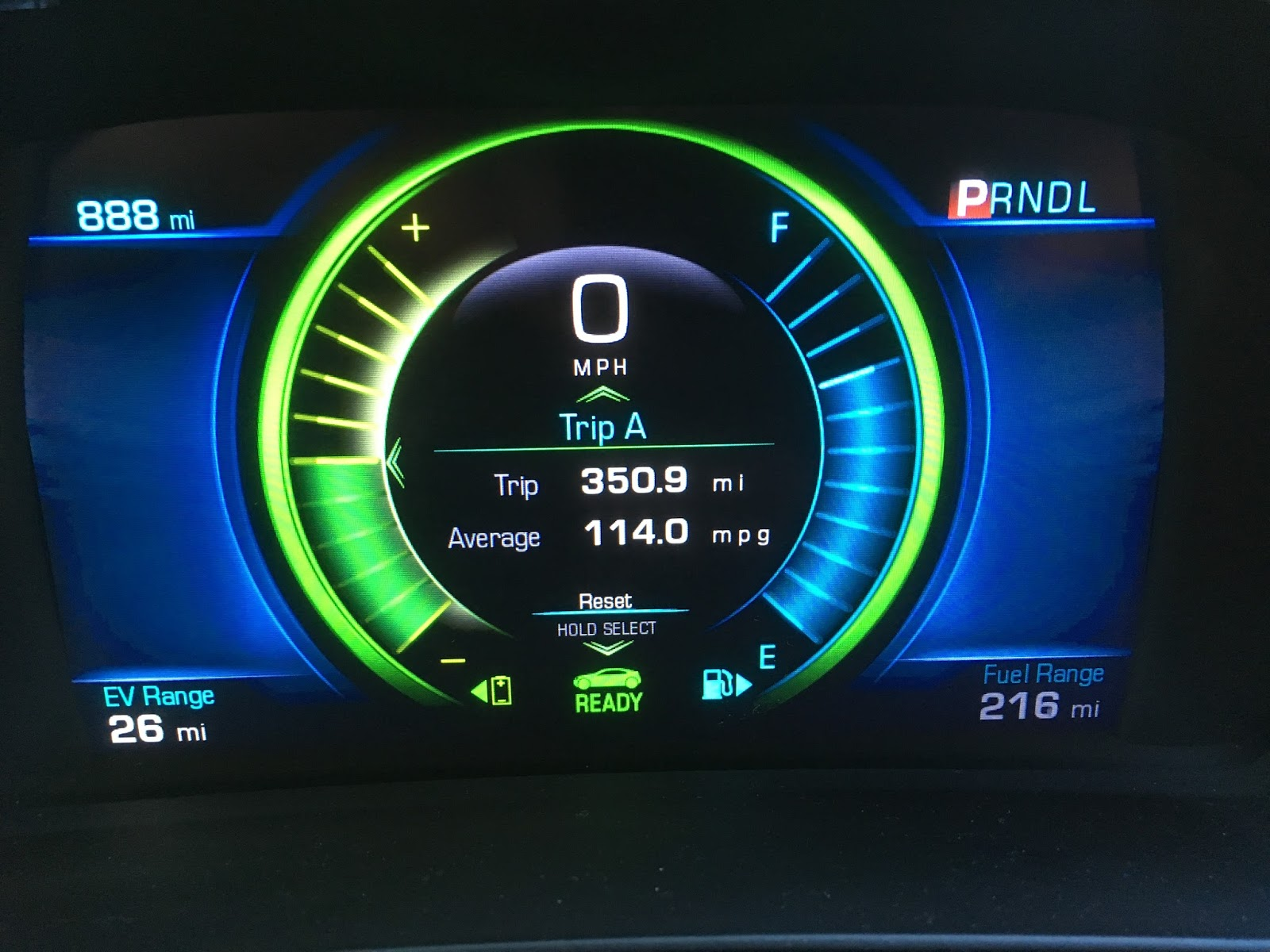 Trip computer for 2017 Chevrolet Volt