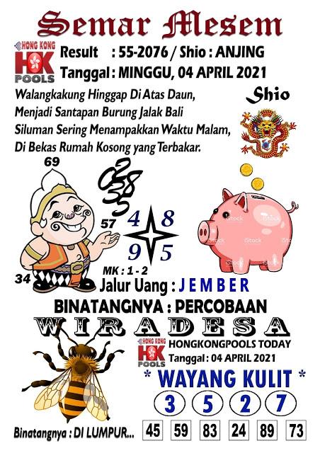 Syair Semar Mesem HK Minggu 04 April 2021