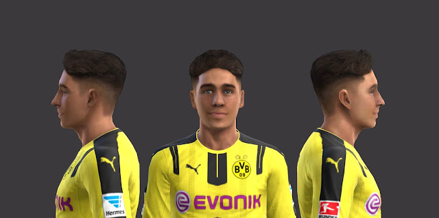 PES 2013 Messi, Giroud and Emre Mor Faces by EmreT