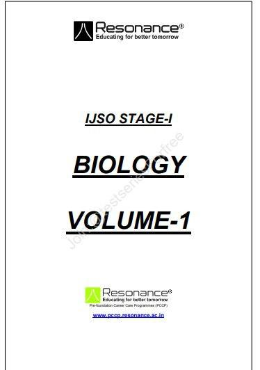 BIOLOGY Volume-1 : For JEE and NEET Exam PDF Book