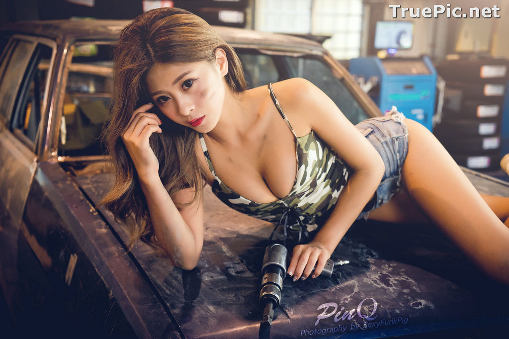 Image Taiwanese Model - PinQ憑果茱 - Hot Sexy Girl Car Mechanic - TruePic.net - Picture-3