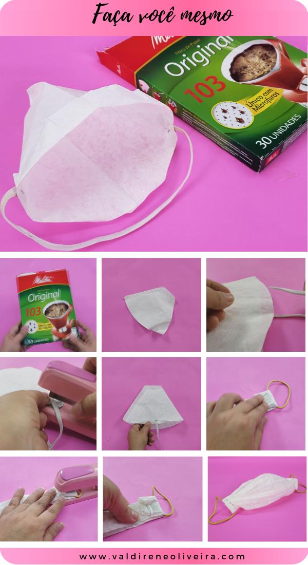 como fazer mascara descartável com filtro de café