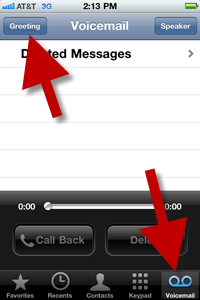 Betenbough homes it tips how to change voicemail greeting on iphone go to the voicemail tab in the bottom menu and click the greeting button m4hsunfo