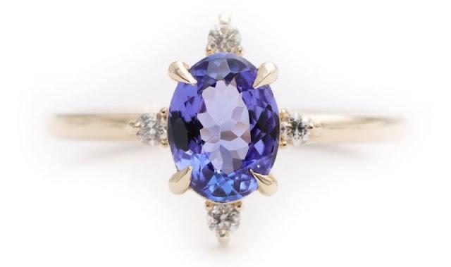 Non Diamond Engagement Rings Tanzanite