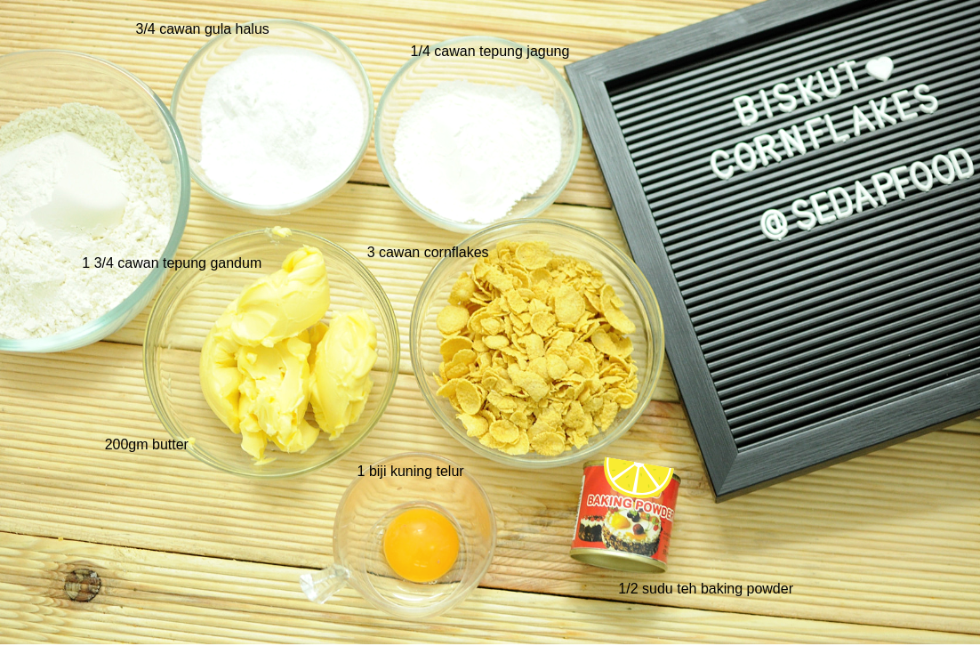 bahan biskut cornflakes rangup