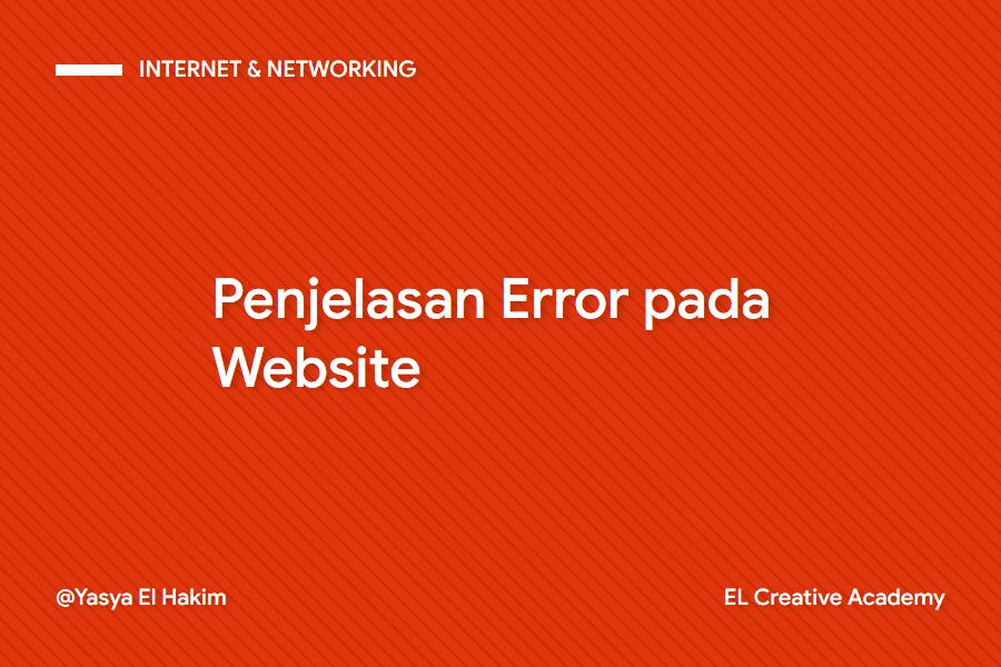 Kumpulan Error pada Website