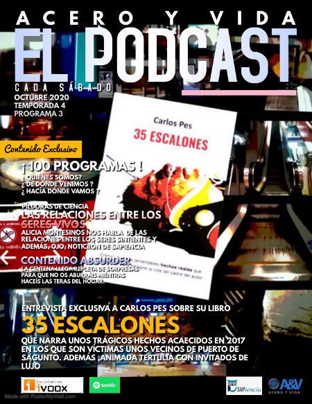 Podcast de Acero y Vida con entrevista a Carlos Pes sobre el libro 35 ESCALONES.