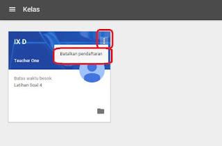 Cara Log Out dari Google Classroom