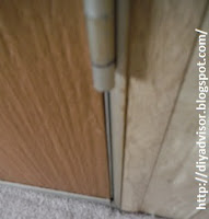This is the door hinge that is pinching the door frame