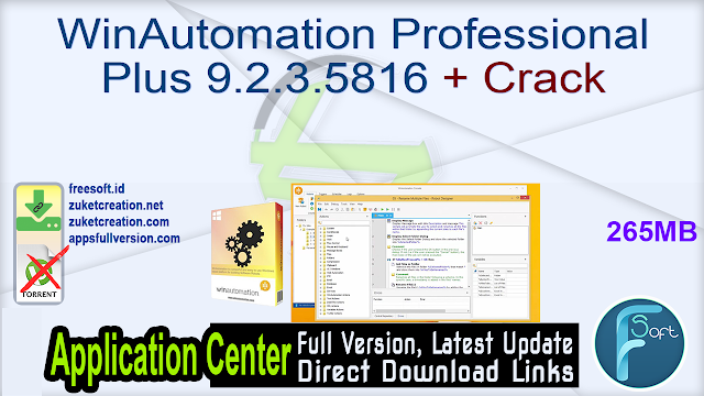 WinAutomation Professional Plus 9.2.3.5816 + Crack