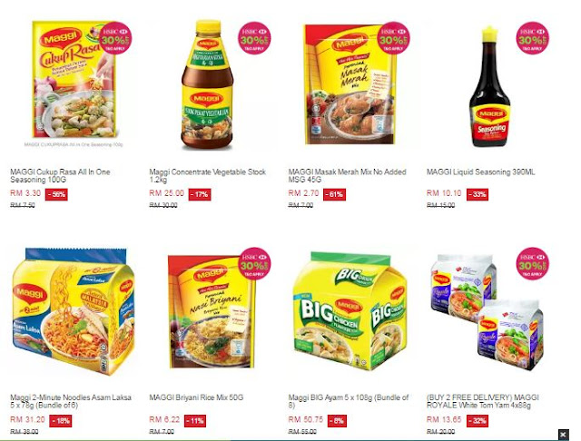 maggi,azada, lazada box of joy, lazada online revolution, online revolution, box of joy, diskaun, nestle, nescafe, maggi, maggi tom yam, loreal, tefal, cara untuk mendapatkan lazada box of joy, mamy poko,