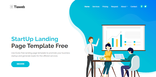 Template Landing Page Evolo