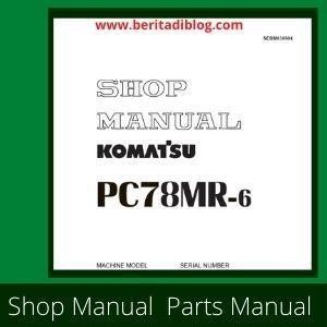 PC78mr-6 shop manual excavator komatsu