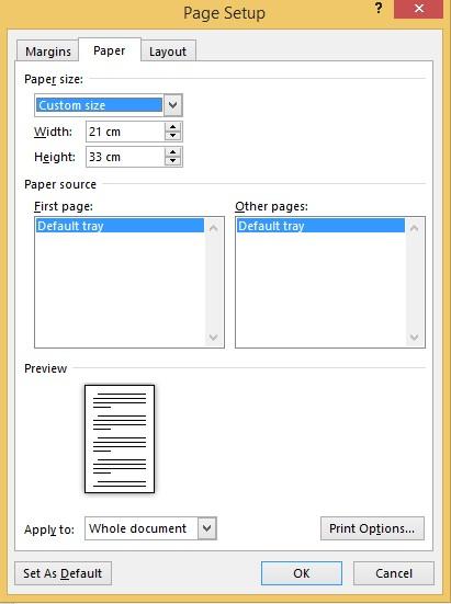 Cara Merubah Ukuran Kertas di Word Menjadi A4, A5, A6, F4 dan Lainnya