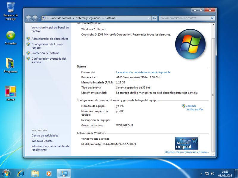Windows 7 Ultimate Lite Sp1 [Español] [x86 / x64] [Bits]
