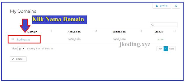 tahap 1 - klik nama domain