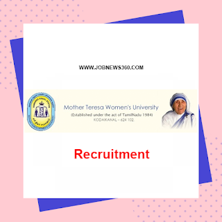 Mother Teresa Women's University Walk-IN 25th Sep 2019 for Data Entry Operator, Field Investigators
