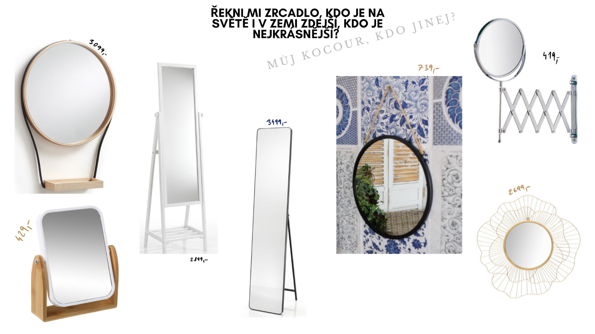 Stojací a stolní zrcadla