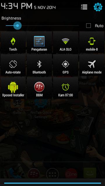 Cara Mengganti Tampilan Panel StatusBar Android