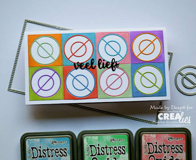 Circle quilted background handmade cards