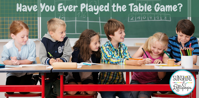 Have you ever played the Table Game? Wait...did I hear a NO? Well you better get on it and check out this great game that kids of all ages LOVE to PLAY!