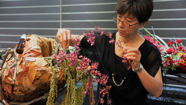 台中科博館植物園清明花藝展 《破繭》花藝設計玩創意
