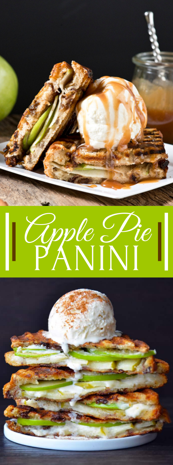 Apple Pie Panini #desserts #caramel